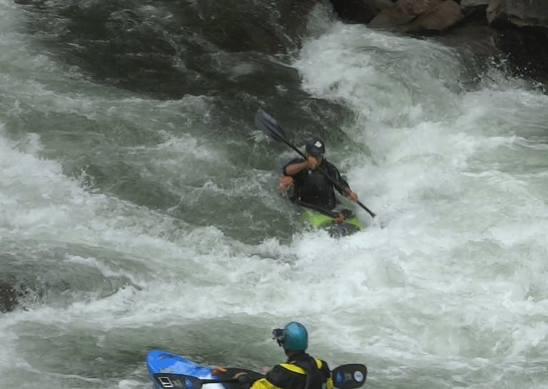 kayak lessons with the Power of Water Southern Rivers Trip