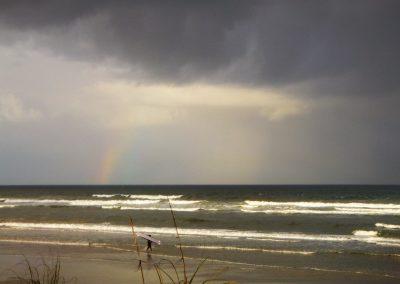 rain clouds over matanzas inlet florida