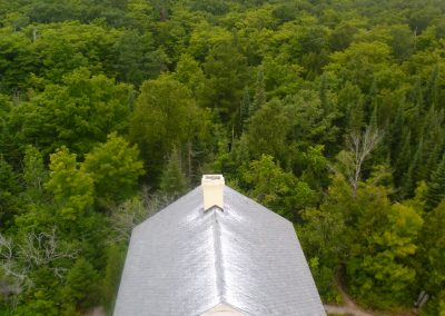 view of the lighthouse keepers house on south manitou island